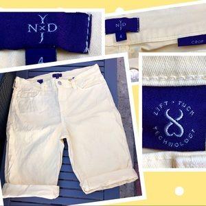 NYDJ Jeans crop shorts lift&tuck technology sz4☀️